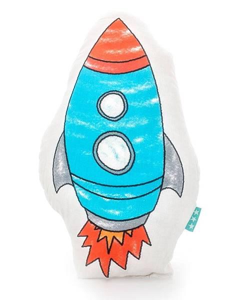 Mr. Fox Bavlnený vankúšik Mr. Fox Space Rocket 40 × 30 cm