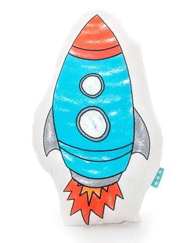 Bavlnený vankúšik Mr. Fox Space Rocket 40 × 30 cm