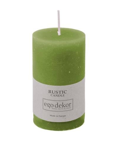 Zelená sviečka Rustic candles by Ego dekor Rust, doba horenia 38 h