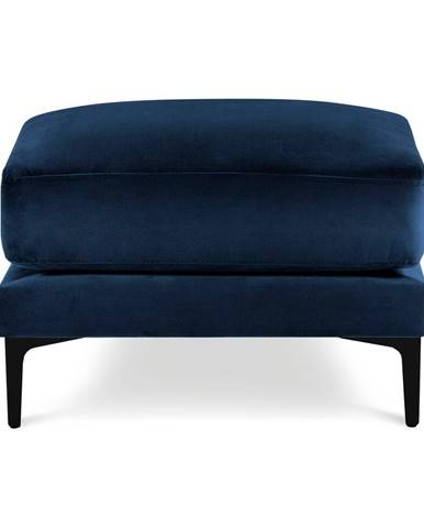 Námornícky modrá zamatová podnožka Kooko Home Harmony
