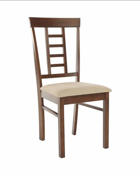 Kondela Jedálenská stolička orech/béžová OLEG NEW rozbalený tovar