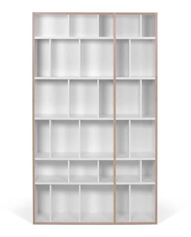 Biela knižnica TemaHome, šírka 108 cm