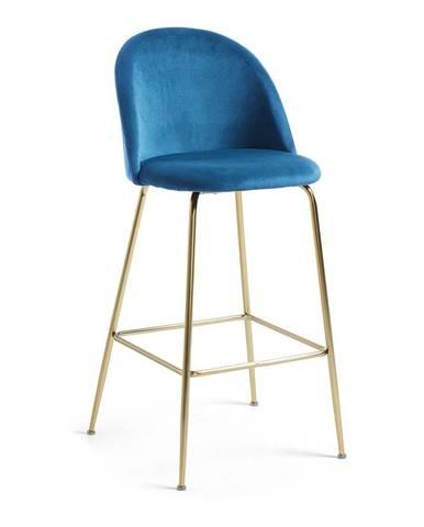 Modrá barová stolička La Forma Mystere