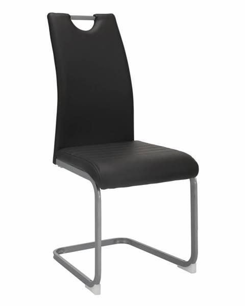 Kondela Jedálenská stolička tmavosivá DEKOMA rozbalený tovar