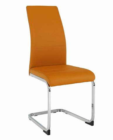 Jedálenská stolička horčicová/chróm VATENA rozbalený tovar
