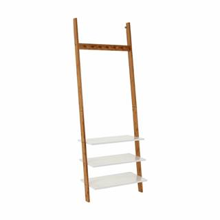 Vešiak s policami biela/bambus MARIKE TYP 2 rozbalený tovar