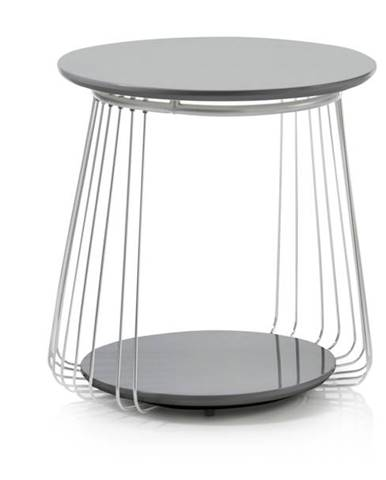 Prístavný stolík VENUTO čierna, 50 cm