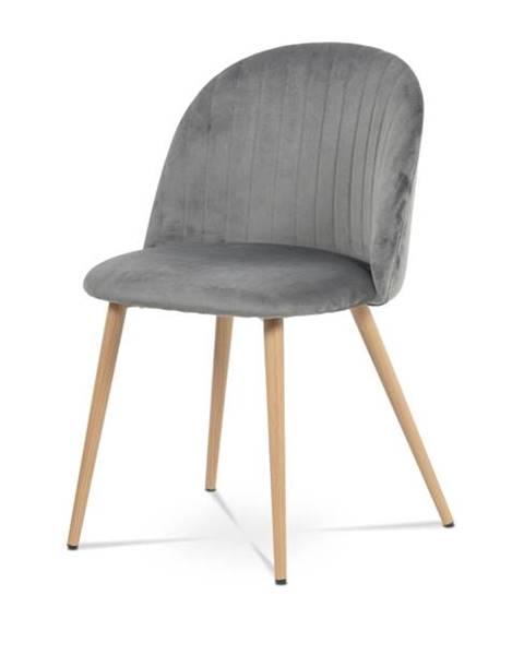 Sconto Jedálenská stolička KAISA dub/sivá