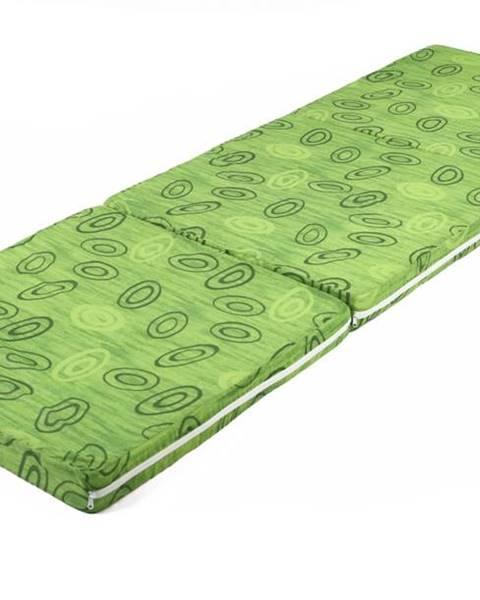 Sconto Skladací matrac SPIRALY zelená