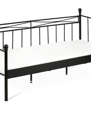 Posteľ DARJA čierna, 90x200 cm