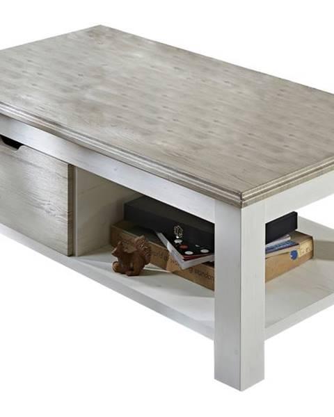 Sconto Konferenčný stolík LIMA 02 pínia/biela