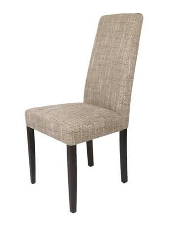 Jedálenská stolička CAPRICE cappucino/tmavohnedá