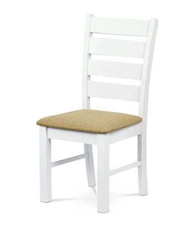 Jedálenská stolička MICHALA 1 biela/piesková