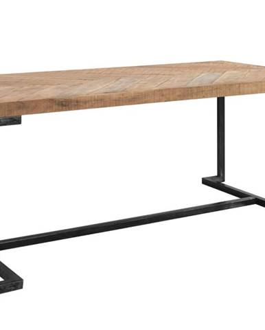 Jedálenský stôl PARQUET prírodná akácia/sivá