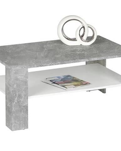 Konferenčný stolík JOKER 66 betón/biela