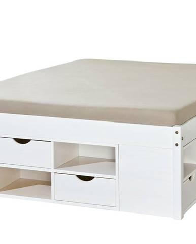 Posteľ SCALLA biela, 160x200 cm