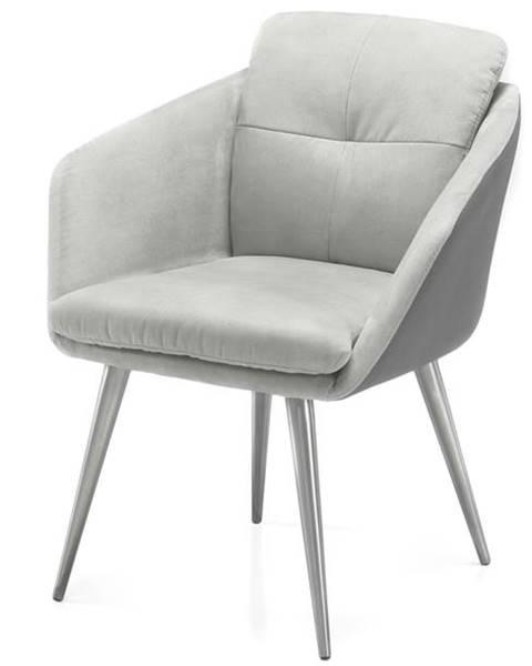 Sconto Jedálenská stolička EMILY 2 sivá