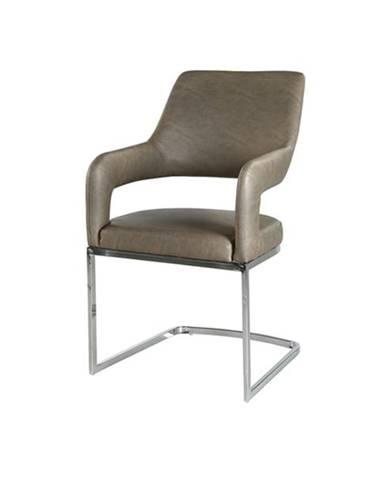 Jedálenská stolička BEATE hnedá/chróm