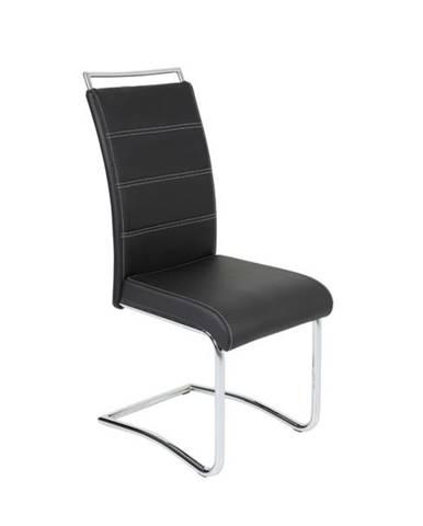 Jedálenská stolička BELLA 2 čierna/chróm