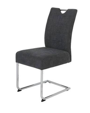Jedálenská stolička DENISE S antracitová