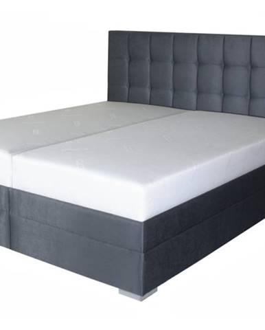 Posteľ DANA sivočierna, 180x200 cm, s matracom
