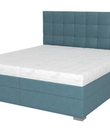 Posteľ DANA tyrkysová, 180x210 cm, s matracom