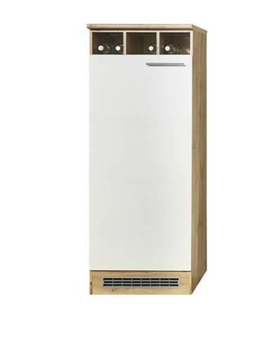 Skriňa na chladničku MADEIRA divoký dub/biela