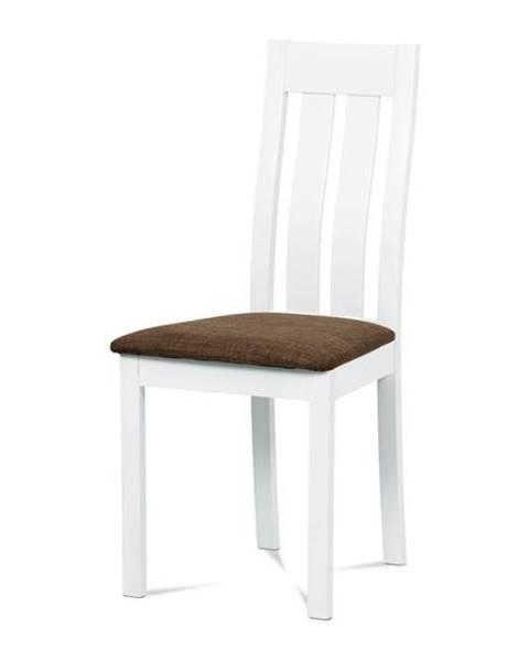 Sconto Jedálenská stolička BELA biela/hnedá