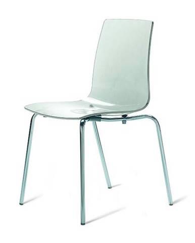 Jedálenská stolička LOLLIPOP priesvitná