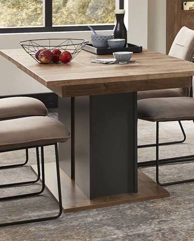 Jedálenský stôl MANHATTAN dub havelland cognac/grafit