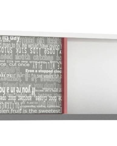 Polica/nástenný regál PHILOSOPHY PH-10 biela/grafit