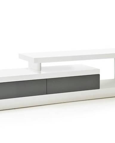 TV stolík CEDRIK biela/sivá