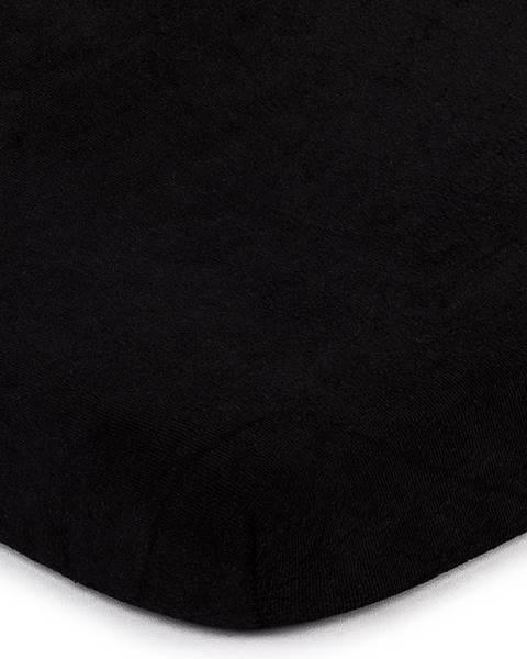 4Home 4Home froté prestieradlo čierna, 140 x 200 cm